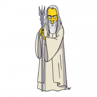 Saruman/The Simpsons from Adrien Noterdaem