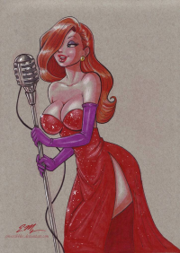 Jessica Rabbit from em-scribbles