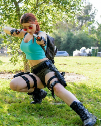 Birds of 'Play as Lara Croft
