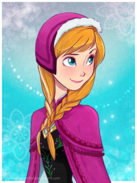 Anna of Arendelle from chocolatesmoothie