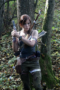 Imelda Croft as Lara Croft