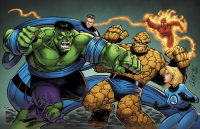 Reed Richards, Johnny Storm, Sue Storm, The Thing, Hulk from Ross Hughes