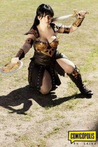 Miss Cocoa Cosplay as Xena