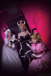 Unknown Female Artist as Bowsette, Unknown Female Artist as Booette, Unknown Female Artist as Princess Peach