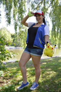 Lady Di Cosplay as Ash Ketchum