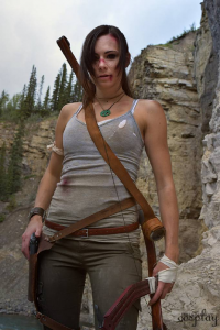 Yelaina May Cosplay as Lara Croft