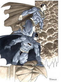 Batman, Superman from Francis Portela