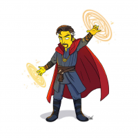 Doctor Strange/The Simpsons from Adrien Noterdaem