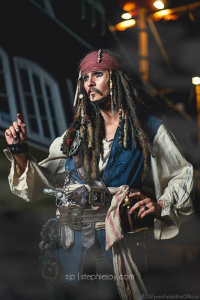 Alyson Tabbitha as Captain Jack Sparrow