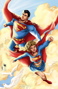 Superman, Supergirl from Sarah Christina