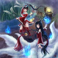 Ahri, Akali from 千跇