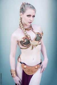 Maid of Might Cosplay as Leia Organa/Slave