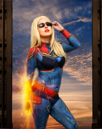 Northern Belle as Captain Marvel