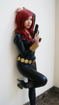 Cathy Ngo Cosplay as Black Widow