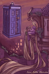 Princess Rapunzel, TARDIS from Karen Hallion