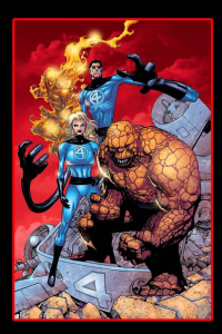 Reed Richards, Johnny Storm, Sue Storm, The Thing from ravencolors