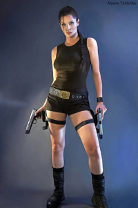 Alyson Tabbitha as Lara Croft