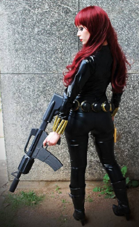 Aelyin Cosplay as Black Widow