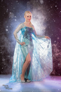 Cosplay Party Princess as Elsa of Arendelle