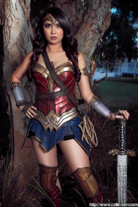 Hangry Annie Cosplay as Wonder Woman