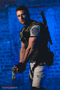 King Of The North Cosplays as Chris Redfield