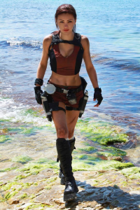 Elen-mart as Lara Croft
