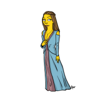 Margaery Tyrell/The Simpsons from Adrien Noterdaem