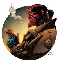 Hellboy from Alonso Espinoza