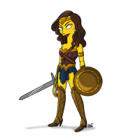 Wonder Woman/The Simpsons from Adrien Noterdaem