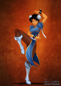 Princess Jasmine/Chun Li from Isaiah Stephens