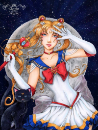 Sailor Moon from Sika-chan