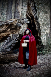 Unknown Female Artist as Little Red Riding Hood