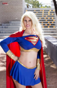 Az Powergirl as Supergirl