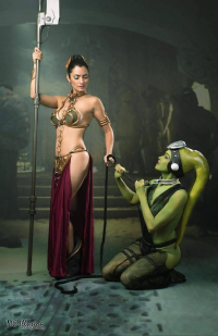 Ivy Cosplay as Leia Organa/Slave, Princess Lymari as Twi'lek