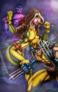 Rogue, Wolverine from bulalakaw76