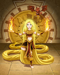 Princess Rapunzel/Firebender from Robby Cook