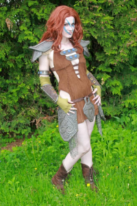 Alli Apocalips as Aela the Huntress