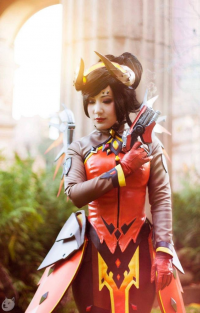 Chubear Cosplay as Mercy/Devil