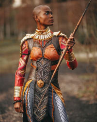 Ilsu23 as Okoye, Ironmanlive as Black Panther