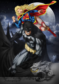 Supergirl, Batman from archaeopteryx14