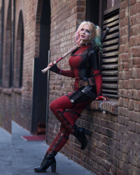 Maid Of Might Cosplay as Harley Quinn/Deadpool