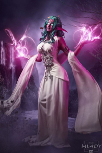 Vilina Cosplay & Model as Tyrande Whisperwind