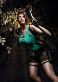 Visual Aurelie as Lara Croft