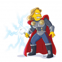 Thor/The Simpsons from Adrien Noterdaem
