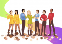 Hikaru Sulu, Spock, James T. Kirk, Leonard H. McCoy, Montgomery Scott from The-dreaming-grass