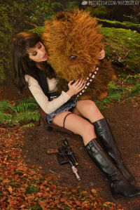 Mircosplay as Han Solo