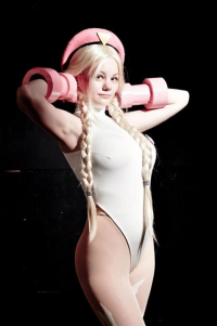 Chibi Neko Cosplay as Cammy White