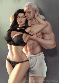 Yennefer, Geralt of Rivia from ynorka