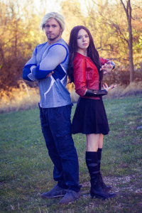 Jonny as Quicksilver, Siffy as Scarlet Witch