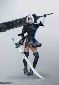 Maka Chan Cosplay as 2B